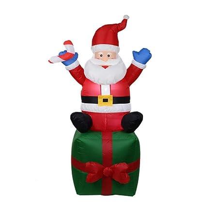 Amazon.com: 70.9 in gigante Papá Noel Claus LED iluminado ...