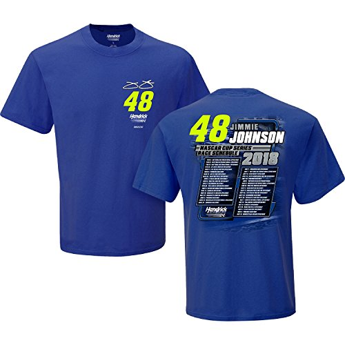 Las Vegas Nascar Race - Jimmie Johnson 2018 Monster Energy NASCAR Cup Series Schedule T-Shirt (XXLarge)