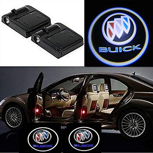 CNAutoLicht 2x Wireless Magnetic Cree LED Door Step Courtesy Light Welcome Light Laser Shadow Logo Projector Lamp For Buick Century Electra Encalve Excelle LA Crosse Le Sabre Park Avenue Rendezvouz