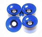 FunBox Skateboards 70mm Skateboard Wheels Longboard Wheels Cruiser wheels Clear Blue
