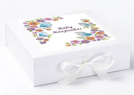 Caja de recuerdos para bebé, bebé niña regalos, regalos de recuerdo de bebé caja de recuerdos, bebé, poco aves bebé recuerdo: Amazon.es: Hogar