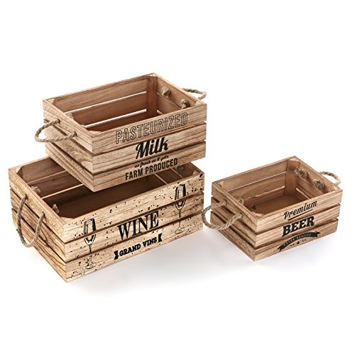 Versa 20890020 - Set Of 3 Wooden Boxes by Versa