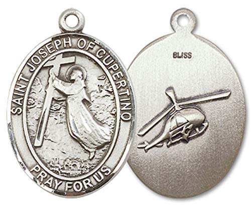 Helicopter Crew Medal with St. Joseph of Cupertino, 3/4