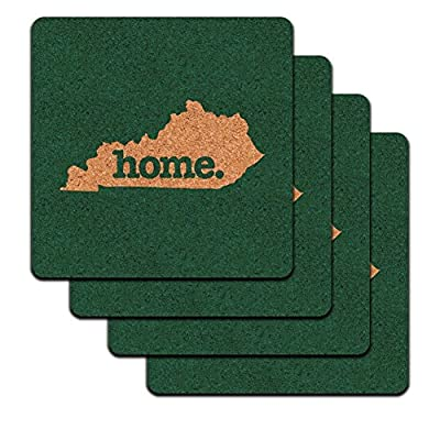Kentucky KY Home State Low Profile Cork Coaster Set