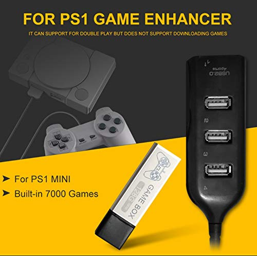 128G Game Enhancer Paquete de expansión de simulador de código abierto para juegos 7000 incorporado Hub de expansión de juegos de 4 puertos