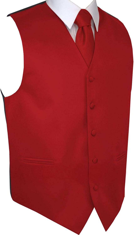 Tie /& Hankie Set Italian Design Mens Tuxedo Vest