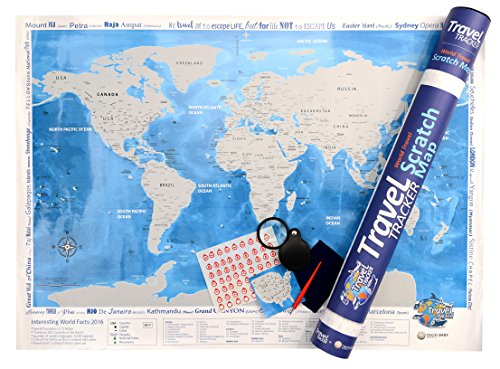 Deluxe scratch off world map 32x 23 unique gift scratch off deluxe scratch off world map 32x 23 unique gift scratch off usa by states includes magnifying glass practice scratch map scratch tool gumiabroncs Image collections