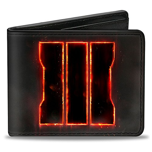 Buckle-Down Men's Wallet Call Of Duty Molten Trey Logo + Call Of Duty Black Op Accessory, -Multi, One Size