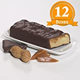 ProtiWise - Caramel Nut High Protein Diet Bars | Low Calorie, Low Fat, Low Sugar (12 Boxes)