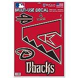 WinCraft Arizona Diamondbacks Official MLB 11 inch x 17 inch Static Cling Window Car Decal by 181725