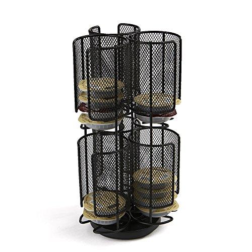 Mind Reader Tassimo - Estante para almacenamiento de café (2 pisos), color negro, Black metal mesh, 1