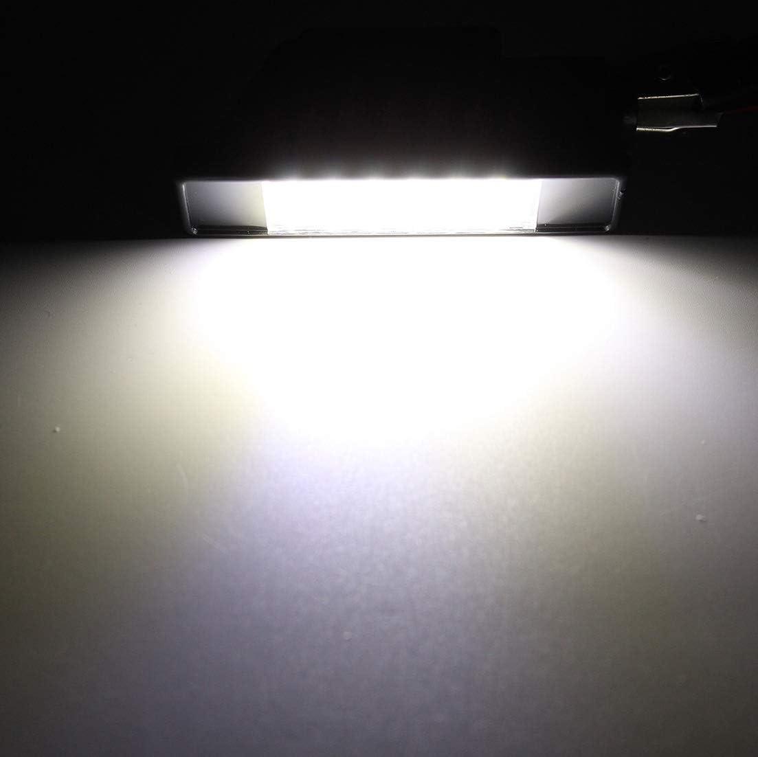 MOLEAQI 2 St/ück 18 LED Perlen Kennzeichen LED Lichtleuchte f/ür C-Citroen C2 C3 C4 C5 C6 DS3 f/ür Peugeot 106 207 307 308 406 407 508 1007 3008