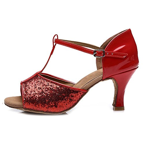 Pour Latine 7cm Chaussures Danse Rouge Femmes Swdzm uk Ballroom Satin De 216 Modle wIZ4qxPH