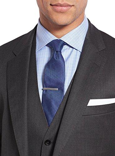 Salvatore Exte Men's Suit 3-Piece Two Button Blazer Jacket Flat Front Pants (54 Regular US / 64R EU / W 48'', Modern Fit Charcoal) by Salvatore Exte (Image #4)