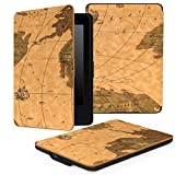 MoKo Case for Kindle Paperwhite, Premium Thinnest and Lightest PU Leather Cover with Auto Wake / Sleep for Amazon All-New Kindle Paperwhite (Fits 2012, 2013, 2015 and 2016 Versions), MAP H