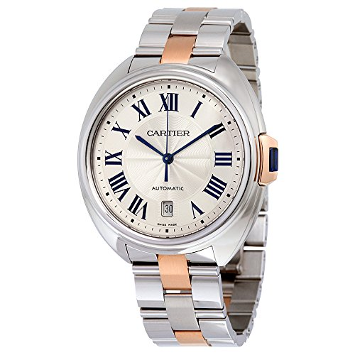 Watch Cartier Men's Cle De Cartier Watch Automatic Sapphire Crystal W2CL0002 W2CL0002