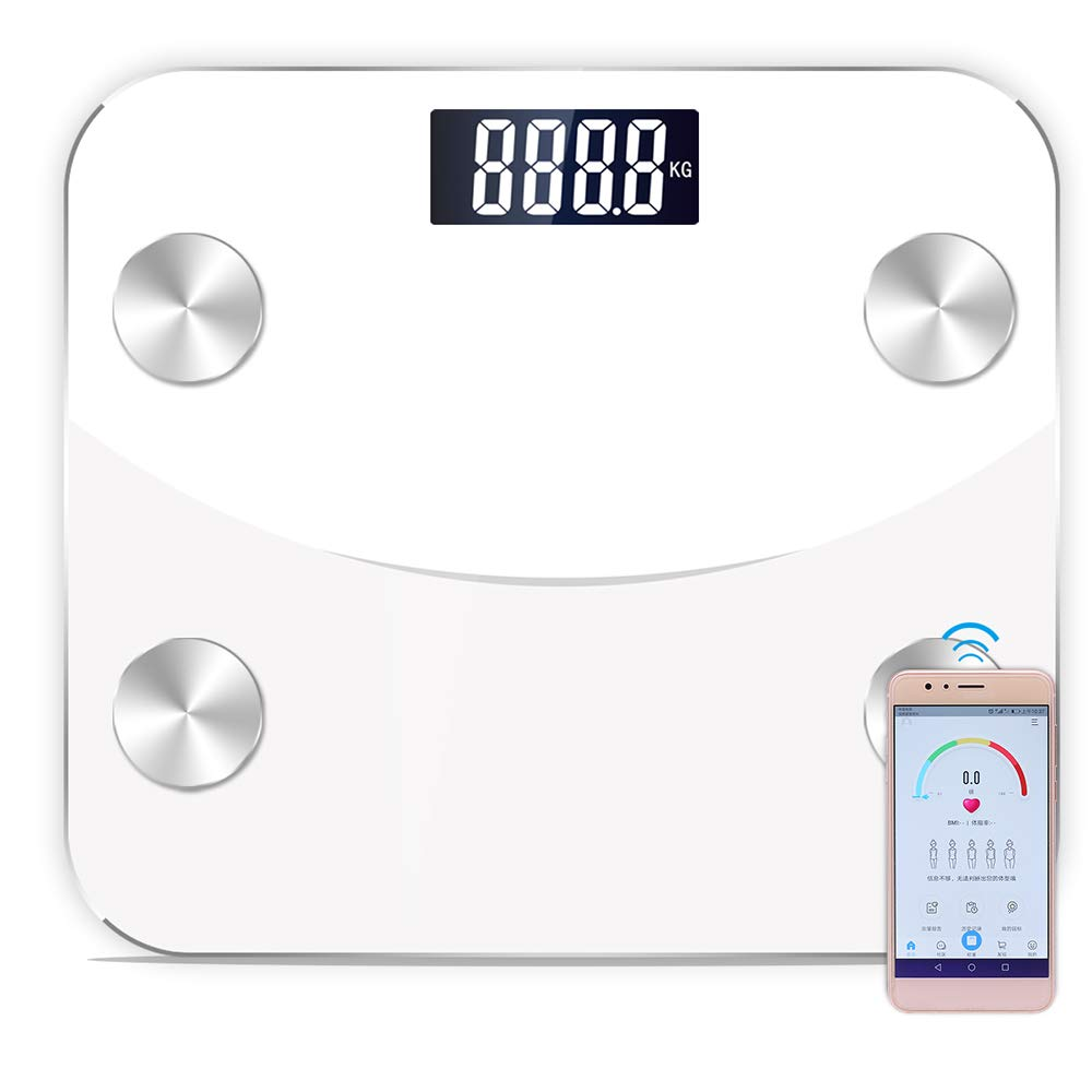 Smart BMI Scale BT Connection Fat Scale Body Fat Weigh Composition Scale Monitor Analyzer With Smart Phone App & 22 Item Data