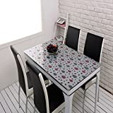 PVC Soft Glass Dining Table Cloth/Coffee Table Pad-E 120x120cm(47x47inch)