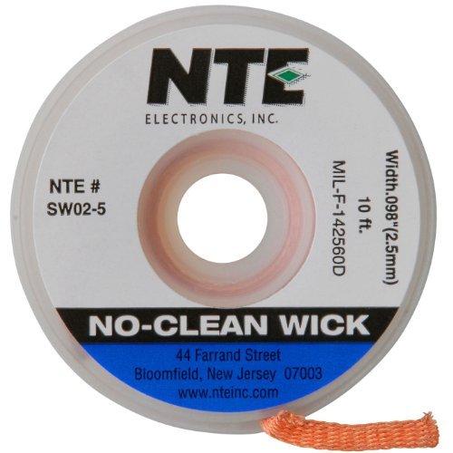 nte-electronics-sw02-10-no-clean-solder-wick-4-blue-098-width-10-length