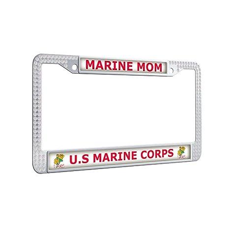 Amazon.com: U.S Marine Corps License Plate Frame,Marine MOM U.S ...