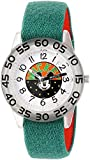 Disney Boy's 'Mickey Mouse' Quartz Plastic and Nylon Casual Watch, Color:Green (Model: WDS000109)