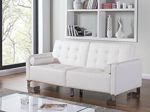 Casabianca Furniture Spezia Collection Sofa Bed, White