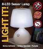 LIGHT IT by Fulcrum 20020-108 8 LED Wireless Motion Sensor Table Lamp Light, White