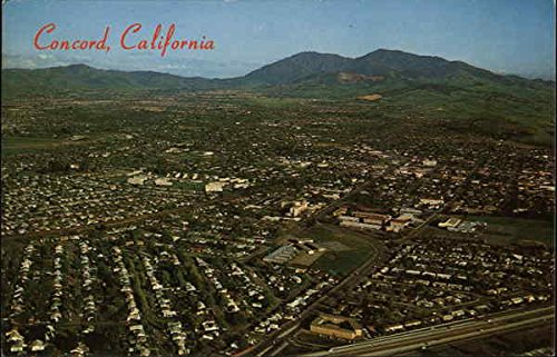 Amazon Aerial View Of Town Mt Diablo In The Background Concord California Original Vintage Postcard Entertainment Collectibles