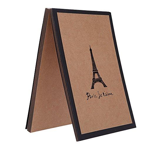 Andoer 15 Sheets DIY Handmade Scrapbook Photo Album with Frame Sticker Paris Eiffel