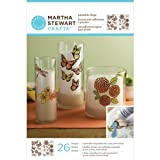 Martha Stewart Crafts Outline Glass Cling, 33260 Butterflies and Blossoms