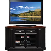 Leick Furniture 62 Corner TV Stand, Black Rub