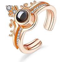 Digital Funda 100 Languages I Love You Adjustable Ring for Women Girls