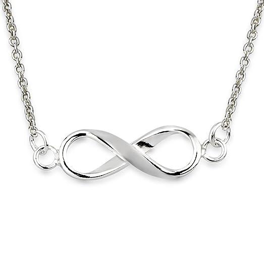 Amazon 925 Sterling Silver Horizontal Sideways Infinity Symbol