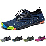 Madaleno Water Shoes Quick-Dry Barefoot Sport Aqua Shoes for Beach Swimming Diving Surfing Jogging Exercise Men Women Blue (43 EU,9 UK)
