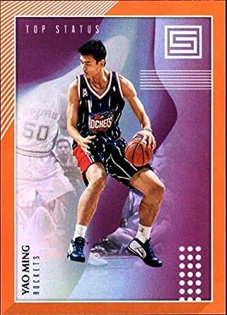 53aa1d63b4450 Amazon.com: 2018-19 Panini Status Top Status Orange #7 Yao Ming ...