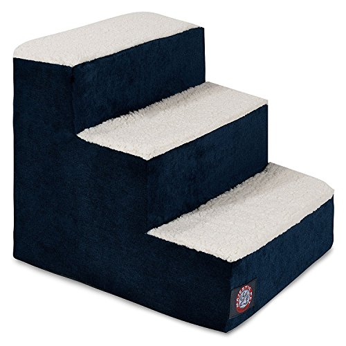 Stairs Three Pet Step (3 Step Portable Pet Stairs By Majestic Pet Products Villa Navy Blue Steps for Cats and Dogs)