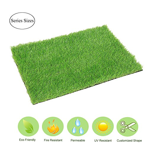 (ECO MATRIX Artificial Grass Door Mat Fake Grass Rug Entrance Carpet Doormat for Indoor Outdoor Realistic Green Landscape Lawn Pad Synthetic Grass Turf for Dog (18inch x 24inch))