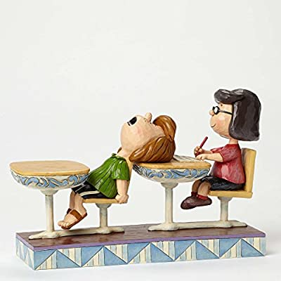 Jim Shore Peanuts School Days Marcie and Peppermint Patty Figurine 4049416 New