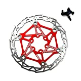 Gymforward Stainless Steel Floating Bicycle Disc Brake 160MM Bike Rotor Mountain Cycling Parts Accessorie (Red)