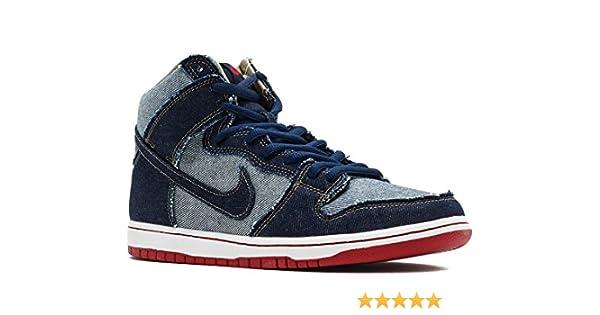 low priced 6a032 1fb55 Amazon.com   Nike SB Dunk HIGH TRD QS  Reese Forbes Denim  - 881758-441    Fashion Sneakers