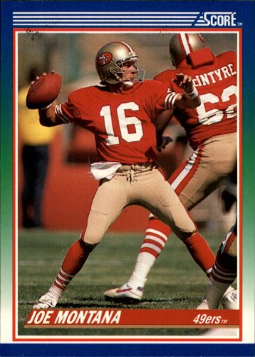 1990 Score Football Card #1 Joe Montana Mint ()