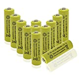 QBLPOWER Solar Light 1.2V AA Ni-CD 600mAh 2A Rechargable Batteries Cell For Garden/Lawn/Sidewalk Lamp (12 pack AA Yellow)