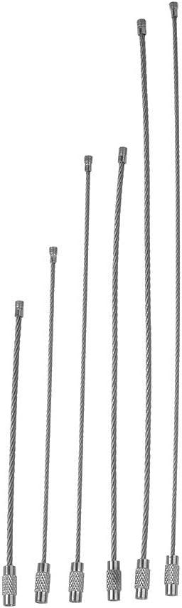 Bigdispawl Llavero de Acero Inoxidable 10 Piezas EDC Cuerda de Alambre Llavero Cable Cadena Llavero