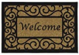Ottomanson Ottohome Collection Rectangular Welcome Doormat (Machine-Washable/Non-Slip)