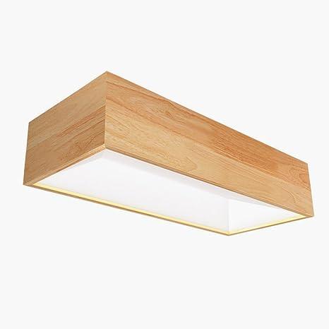 Lámpara de techo de madera sólida moderna del techo de la ...