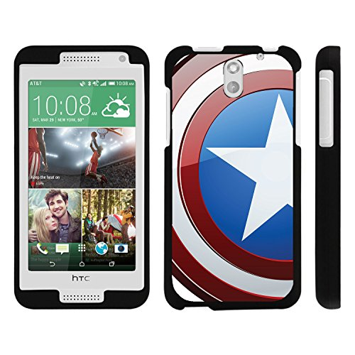 HTC Desire 610 Phone Case, Perfect Fit Snap on Cell Phone Case Superhero Design Series for HTC Desire 610 and 612 by Miniturtle® - America Shield Hero - Htc Desire 610 Super Hero Case