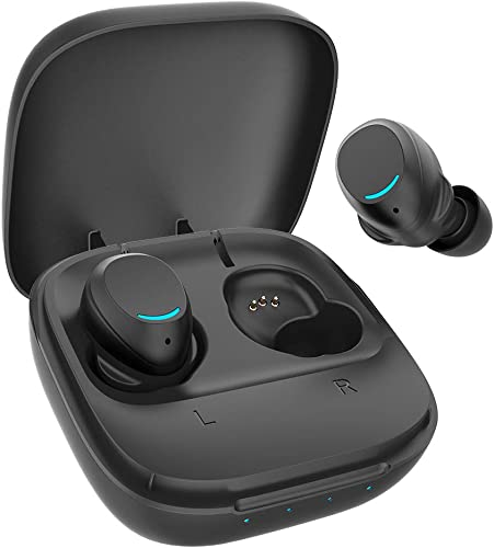True Wireless Earbuds, Wireless Earbuds Bluetooth 5.0 in-Ear Headphones Ear Buds Wireless Headphones IPX7 Waterproof TWS Earbuds with Charging case Built-in Mic Touch Earbuds 40 Hours Play Time