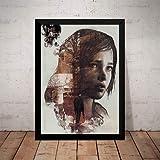 Quadro Game The Last Of Us Arte Poster Moldurado