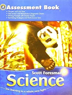 Science 2006 workbook grade 4 scott foresman 9780328126132 amazon scott foresman science grade 4 assessment book fandeluxe Images