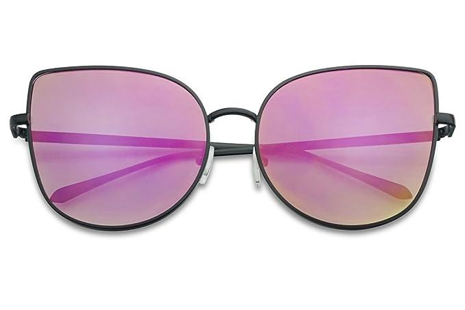 Amazon.com: Gafas de sol de gran tamaño con lentes planas de ...